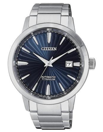 citizen NJ2180-89L super titanio automatico quadrante blu bracciale super titanio