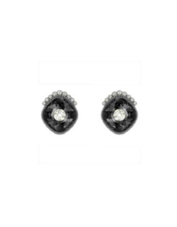 orecchini-stud-black-baroque–grigio-scuro–placcatura-rutenio-swarovski-5485656