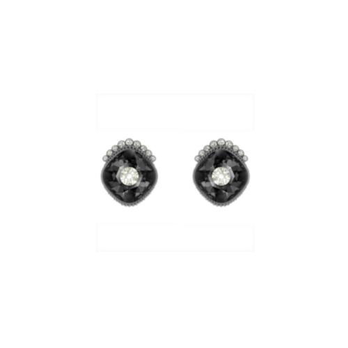 orecchini-stud-black-baroque--grigio-scuro--placcatura-rutenio-swarovski-5485656
