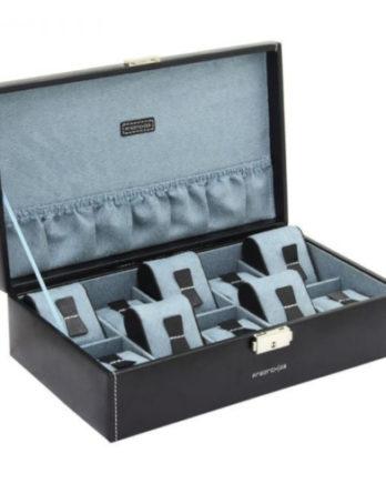 friedrich 20068-2 scatola porta orologi 10 posti nero a