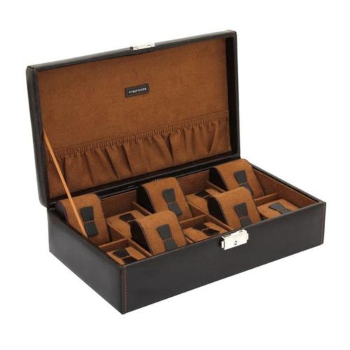 friedrich 20068-3 scatola porta orologi 10 posti marrone a