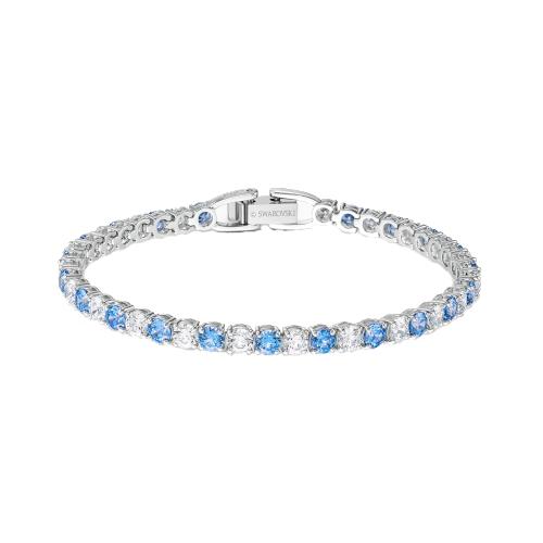 Braccialetto- swarovski tennis deluxe azzurro 5536469