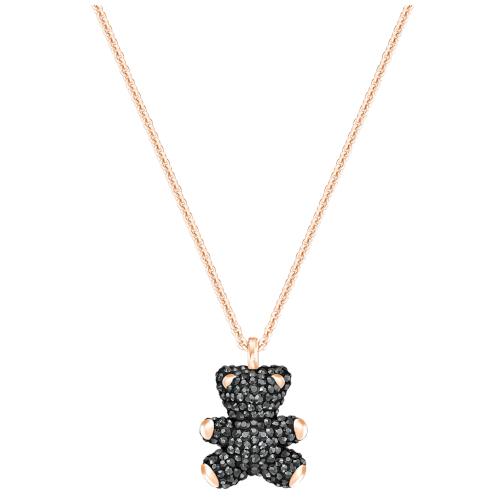 Collana -Swarovski Teddy 3D Nero Placcato oro rosa 5300448_4