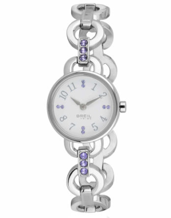 Orologio – Breil Donna Agata Bianco Cristalli Lilla EW0382