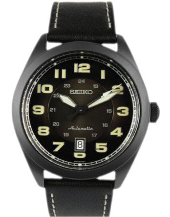 a Seiko SRPC89K1 Prospex automatico quadrante nero cinturino pelle nero