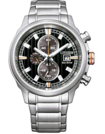 citizen CA0730-85E orologio uomo collezione ore felici 2020 cronografo quadrante nero bracciale acciaio