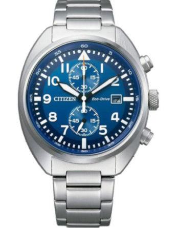 citizen CA7040-85L orologio uomo collezione ore felici 2020 solo tempo quadrante blu bracciale acciaio cassa turtle