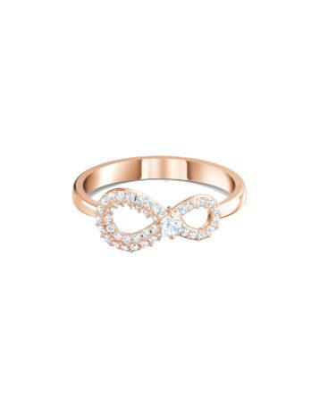 Anello - Swarovski Infinity Bianco Oro Rosa 5535400_1