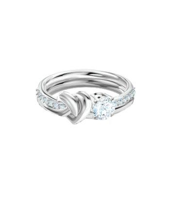 Anello - Swarovski Lifelong Heart Bianco Rodio 5517930_1