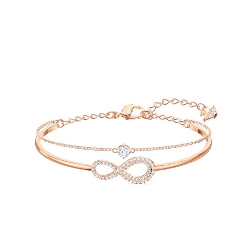 Bracciale – Swarovski Infinity Bianco Oro Rosa 5518871_1