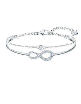 Bracciale - Swarovski Infinity Bianco Rodio 5520584_2