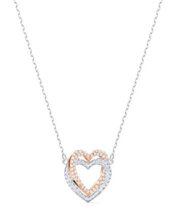 Collana – Swarovski Infinity Heart Bianco Mix 5518868_2
