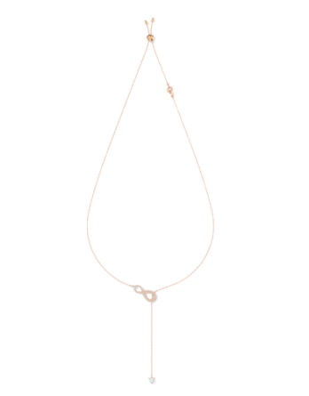 Collana - Swarowski Infinity Bianco Oro Rosa 5521346_3