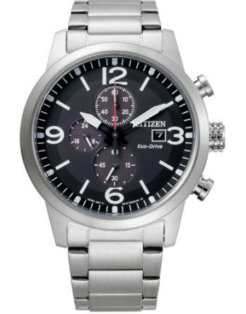 citizen CA0741-89E orologio uomo collezione ore felici 2020 cronografo quadrante nero bracciale acciaio