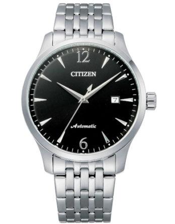 citizen NJ0110-85E orologio uomo collezione ore felici 2020 solo tempo automatico quadrante nero bracciale acciaio