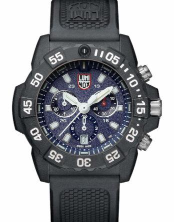 luminox XS 3583 Navy Seals cronografo cinturino gomma nero quadrante blu cassa carbonox a