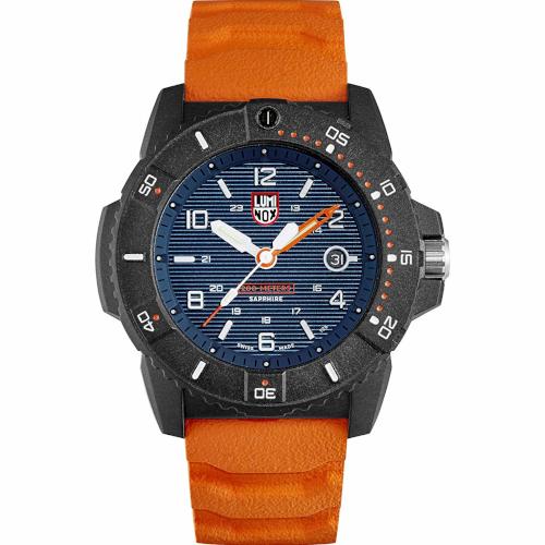 luminox XS 3603 Navy Seals cinturino arancione quadrante blu cassa carbonox