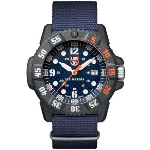 luminox XS 3803 Master Carbon Seal quadrante blu cinturino nato blu