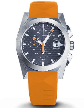 Locman new stealth cronografo 0812a07s-00gyorso quadrante blu cinturino arancione a