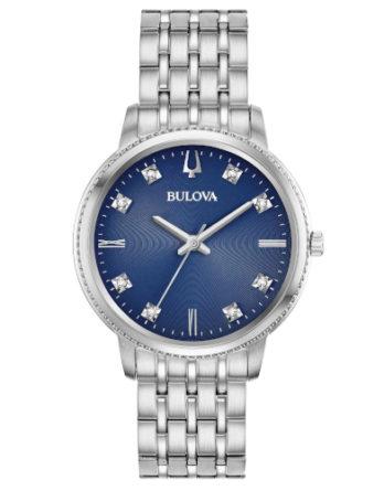 Orologio - Bulova Donna Diamonds Classic Diamonds 96P206 Blu Acciaio 3