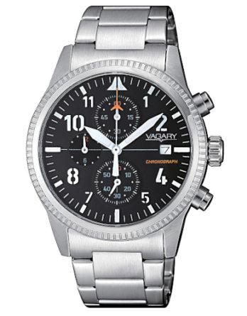 Orologio – Vagary By Citizen Cronografo Uomo Flyboy IA9-811-51 Nero Acciaio