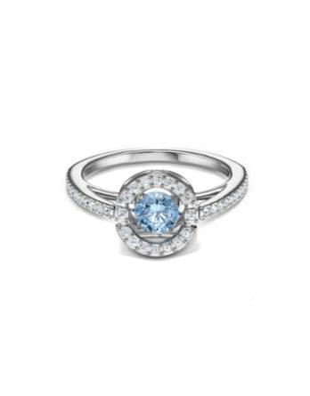 anello swarovski sparkling dance round 5537057 turchese misura 55 c