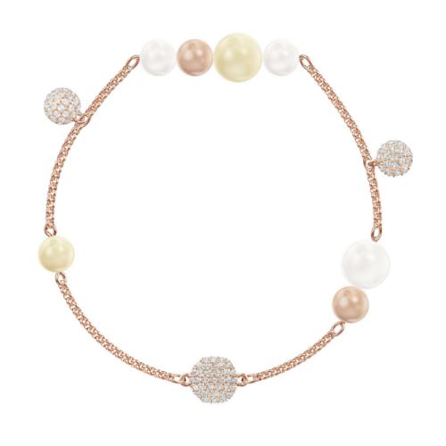 bracciale swarovski remix Collection Pearl L 5479007 multicolore rose gold