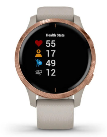 Orologio – Garmin Venu Smartwatch GPS schermo AMOLED 010-02173-22 Light Sand Rose Gold
