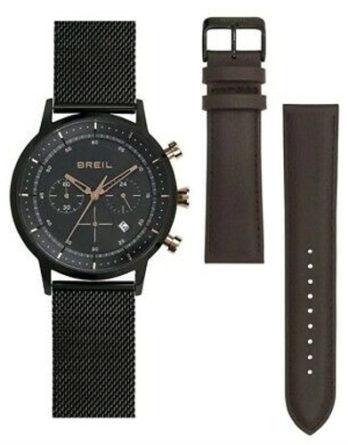 orologio-breil-TW1808-cronografo-uomo-cassa-pvd-nero-bracciale-maglia-milano-pvd-nero-secondo-cinturino-in-pelle ok