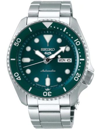 seiko SRPD61K1 seiko 5 sports style quadrante verde chiaro bracciale accaio