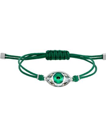 Bracciale – Swarovski Power Evil Eye 5551805 Verde Acciaio Inossidabile