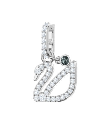 Charm - Swarovski Remix collection Cigno 5443940 Bianco Rodio3