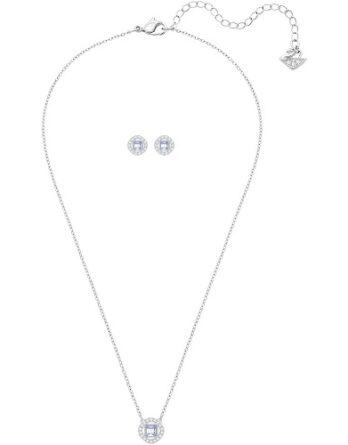 Collana - Swarovski Donna Angelic Square 5356951 Bianco Rodio3