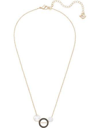 Collana - Swarovski Donna Hote Versatile 5289769 Nero Oro Rosa 1