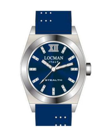 Locman Stealth Lady quadrante blu cinturino silicone blu 020400BLFNK0SIB a