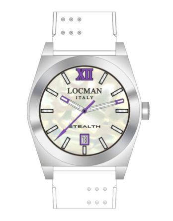Locman Stealth Medium quadrante madreperla cinturino silicone bianco 020300MWFVT0SIW