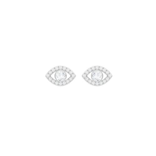 Orecchini - Swarovski Donna Luckily Evil Eye 5377741 Rodio