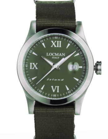 locman island verde miltare cinturino nylon verde militare 0614A03-00GRWHNG a