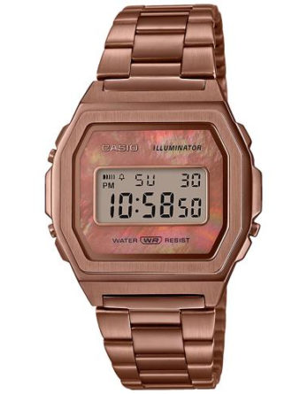 Orologio - Casio Vintage Iconic A1000RG-5EF Madreperla Rose Gold