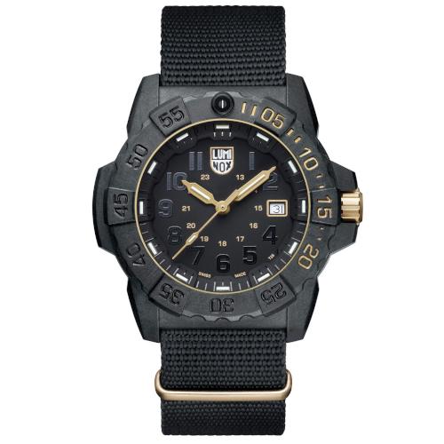 Orologio - Luminox Navy Seal - XS.3501.GOLD.SET Edizione limitata Carbonio Nero Nato 4