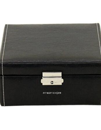 friedrich 20069-2 scatola porta orologi 6 posti nero coperchio chiuso