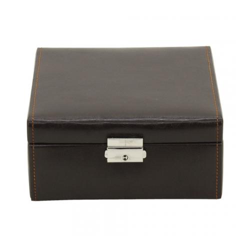 friedrich 20069-3 scatola porta orologi 6 posti marrone coperchio chiuso a