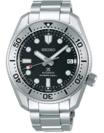 Seiko SPB185J1 1968 quadrante nero ghiera silver bracciale acciaio
