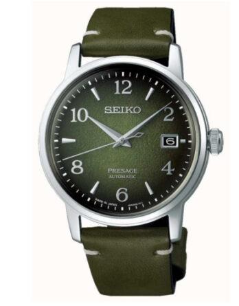 seiko SRPF41J1 Cocktail Time Matcha Limited Edition quadrante verde cinturino pelle verde
