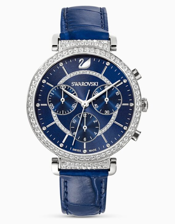 orologio-passage-chrono--cinturino-in-pelle--blu--acciaio-inossidabile-swarovski-5580342