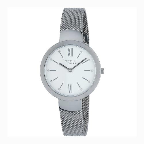 EW027 BREIL MARLENE orologio donna solo tempo con bracciale maglia milano quadrante bianco
