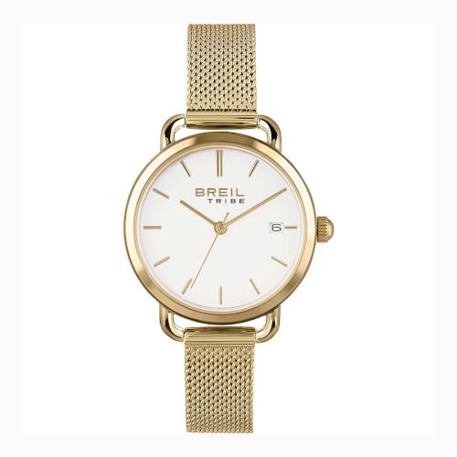 EW0502 BREIL ELIZA orologio donna solo tempo dorato con bracciale maglia milano quadrante bianco
