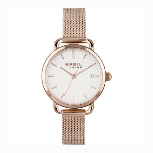 EW0503 BREIL ELIZA orologio donna solo tempo oro rosa con bracciale maglia milano quadrante bianco