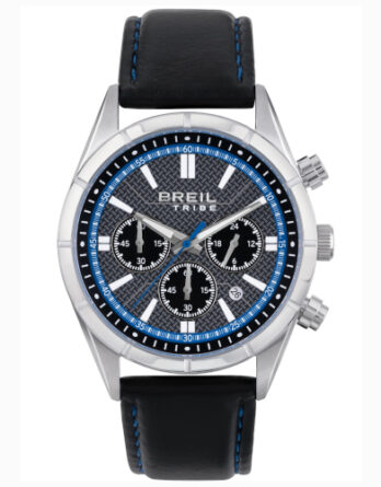 EW0526 BREIL crono uomo quadrante blu cinturino nero
