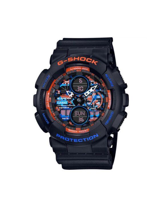 Orologio-Casio-Orologio-uomo-multifunzione-analogio-digitale-collezione-G-Shock-GA-140CT-1AER